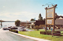An old postcard shot of the original meadows motel from 1972.
